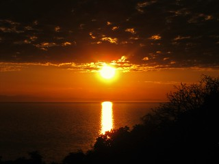 Sunset over Lake Malawi