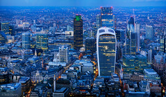 Identity Parade (Tedz Duran) Tags: tedzduran london england uk united kingdom eu europe shard walkie talkie lloyds willis natwest cheezegrater monument building cityoflondon londonbridge blue hour twilight night lights nightscape photography sony ilce a7rii a7r2 leica apo summicron 90mm f2 asph panorama travel birdseye view architecture river thames