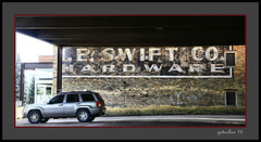 I E Swift Sign (the Gallopping Geezer '4.2' million + views....) Tags: sign signs signage ghostsign faded worn wall paint painted northernmichigan mi michigan upperpeninsila up smalltown backroads backroad ad advertise advertisement business store product canon 5d3 tamron 28300 geezer 2016