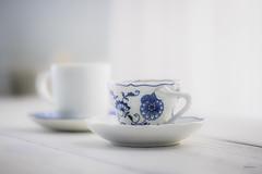 Tea Times Two - Happy International Women's Day! (jm atkinson) Tags: day womens english teacup darjeeling bokeh d700 105mm white curtain wednesday hbw