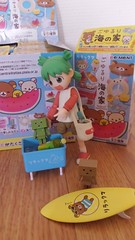 """Oh, no, this is for bottles..."" (Maude80) Tags: yotsuba rement beach rilakuma danboard surfboard little bottles"