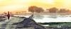 922904_10152836112980191_1578694201_n (goharsaeed) Tags: landscape village sunset pakistan lahore photography photoshop canon old woman lake water life villagelife gohar ali saeed