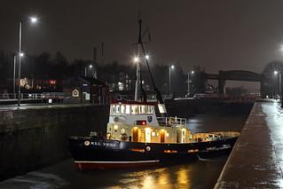 'M.S.C. Viking' Latchford locks 31st January 2017