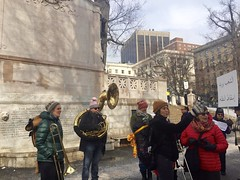 Getting the Band Back Together (Christina Davis) Tags: antitrump bostonstatehouse nobannowall bostonprotests
