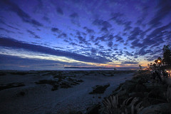 A Beach Symphony (KC Mike D.) Tags: dunes coronado california socal beach landscape ocean pacific clouds sunset blue hour dream sand lines leading lamppost streetlights road seascape water horizon