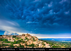France - Provence - Vaucluse - Gordes during stormy evening and Mammatus clouds (© Lucie Debelkova / www.luciedebelkova.com) Tags: gordes provence france francie french française frenchrepublic républiquefrançaise westerneurope europe eu fr landscape mountain hill rock valley world exploration trip vacation holiday place destination location journey tour touring tourism tourist travel traveling visit visiting sight sightseeing wonderful fantastic awesome stunning beautiful breathtaking incredible lovely nice best perfect wwwluciedebelkovacom luciedebelkova luciedebelkovaphotography sky storm clouds dramatic old ancient historical
