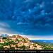 France - Provence - Vaucluse - Gordes during stormy evening and Mammatus clouds