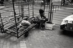 (David Davidoff) Tags: street lonely one hardlife people elderly oldwoman scavenger grid humanist monochrome analogue leicam6ttl alone