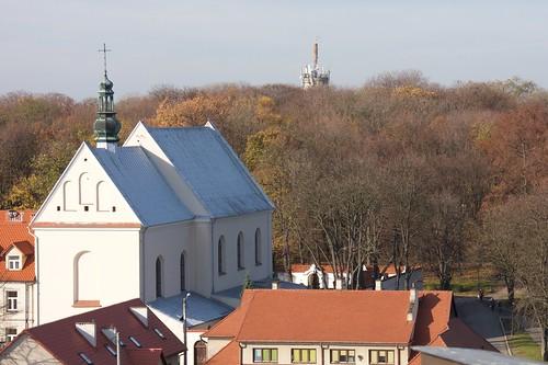 Kościół św. Józefa w Sandomierzu z Bramy Opatowskiej