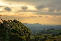 Rooftop (Tony Tooth) Tags: nikon d7100 tamron 2470mm roof rooftop cottage derelict abandoned sky cloud afternoon february countryside landscape burntclifftop staffordshiremoorlands upperhulme staffs staffordshire hdr midlands england