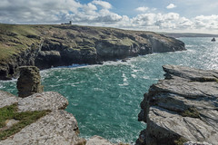 Before We Were Here, After We Are Gone (NVOXVII) Tags: coast landscape sea ocean rocks cliff rugged view nikon tintagel beauty natural bluesky clouds breathtaking stunning historic