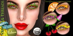 Vengeful Threads - Madpease International Food Fair Exclusive - Catwa Tutti Frutti Lashes with Liner (Vixn Dagger - Vengeful Threads) Tags: tuttifrutti food madpeainternationalfoodfair catwa lashes originalart crazythemed justintimeforsummer