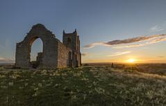 Sundown At The Mump (Explored) (RattyBoots) Tags: sunset summer building church canon ruin somerset levels polariser burrowmump burrowbridge 5diii canon1635f4 august2015