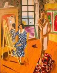 The Three O'Clock Sitting (Thomas Hawk) Tags: nyc usa newyork museum painting unitedstates manhattan unitedstatesofamerica met metropolitan metropolitanmuseum henrimatisse themetropolitanmuseumofart thethreeoclocksitting