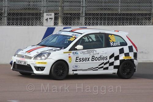 Lewis Kent in Race 1, Fiesta Junior Championship, Rockingham, Sept 2015