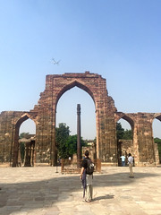 . The Iron Pillar in the central courtyard at Qutab Minar.... (Total TaiTai) Tags: new india delhi din minar ud qutab aibak cjindia