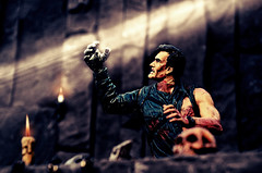 Army of Darkness (RK*Pictures) Tags: chainsaw slasherfilm horror horrorfilm cruel brutal blood cult classic mcfarlane actionfigure mcfarlanetoys movie maniac moviemaniacs toy diorama bloody victim saw knife death pain tragedy fear darkness army armyofdarkness theevildead dead evil comedy horrorcomedy ash brucecampbell samraimi ashleywilliams ashley middleages evilash undead deadites evilsouls glove groovy shotgun necronomiconexmortis necronomicon book humanflesh bookofthedead demons spirits naturomdemonto klaatubaradanikto grave castle smart cave postapocalypticfuture amputation
