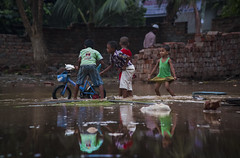 IMG_8757 (Abul Hasnat Supto) Tags: reflection water field playground kids canon eos local dhaka bang 70d cycyle 55250mm