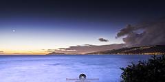 Maunalua Evening Light (Stephen Ball Photography) Tags: ocean blue sea sky moon seascape clouds canon lights hawaii evening seaside paradise pacific oahu pacificocean 24mm eveningsky seashore aloha hawaiikai portlock hawaiianislands primelens maunalua maunaluabay chinawalls ef24mm 96825 stephenball ef24mmf14liiusm canoneos5dmarkiii stephenballphotography canon5dmkiii5d wwwstephenballphotocom stephenballphoto