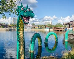 Lego Sea Serpant (Kevin MG) Tags: sculpture usa orlando dragon lego harrypotter structure fantasy amusementpark fl universalstudios stature hogsmead seaserpant