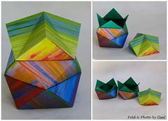Stackable Square Boxes by Tomoko Fuse (esli24) Tags: giftbox tomokofuse origamibox papierfalten juliaschönhuber esli24 ilsez stapelschachtel stackablegiftbox