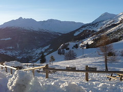 l'ultimo raggio di sole (picciLU) Tags: montagne cielo neve lombardia bosco valtellina pini piccilu