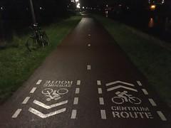 Groningen bij Nacht (ritzotencate) Tags: nacht fav groningen reitdiep jaagpad zernike veilig050 slimmefietsroute