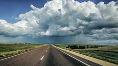 I-90 East (Nico.H.) Tags: d5100 dslr eté landscape nikon paysage usa unitedstatesofamerica storm clounds countryside thunder road