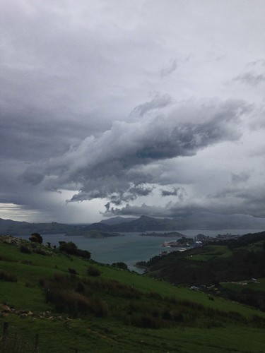 Storm Clouds build up over Port Chalmers