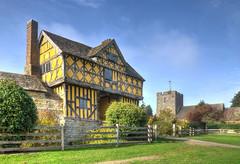 Stokesay Castle gatehouse & Church, Shropshire (Baz Richardson (now away until 31 March)) Tags: shropshire stokesay stokesaycastlegatehouse timberframedbuildings 17thcenturybuildings stokesaychurch