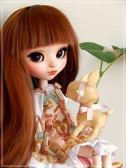 Amélie and the lil' lamby ♥ (Pliash) Tags: doll pullip cute kawaii madeleine dolls madeleinedolls full custom kit mio make it own groove cervo lamby felt animal handmade