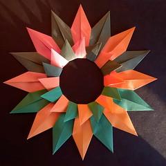 Sun - Paolo Bascetta (Stefano Borroni (Stia)) Tags: origami piegarelacarta foldingpaper carta origamiart paper origamilove papiroflexia arte modulare bascetta sole sun