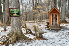Library in the Woods - Knox Farm State Park - East Aurora (DTD_5578) (masinka) Tags: winter woods library knoxfarm statepark eastaurora ny newyork wny 716 outdoors hike newyear 2017 buffalo forest snow ice cold