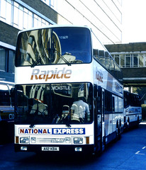 Slide 086-19 (Steve Guess) Tags: vcs london england gb uk victoria coach station bus national express travel rapide mcw metroliner doubledeck a112kba