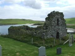 Lund Kirk (DSCF5143) (AngusInShetland) Tags: lund kirk unst shetland church ruin abandoned scotland gravestones overgrown lichen decay