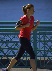 The Morning Jog (swong95765) Tags: woman female lady jogger blonde running exercise healthy beauty music runner