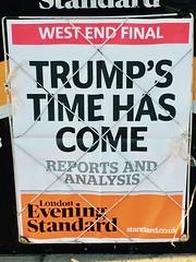 Trump's Time has Come (LinkMachineGo) Tags: donaldtrump eveningstandard london presidenttrump inauguration