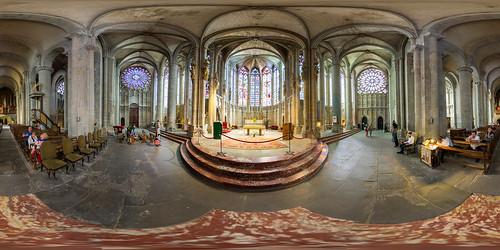 Choeur de la basilique Saint-Nazaire de la cité de Caracssonne