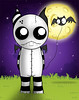 MidnightBatWalk (BitStrange) Tags: unluckables unluckable unlucky luckycharm monster creature voodoodoll voodoo creepycute creepycuteart lowbrow lowbrowart bigeyes bigeyedart bigeyeart skulls bat