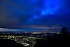 Beautiful Heidelberg (Siebeats) Tags: heidelberg night lights nacht lichter langzeitbelichtung cloud sky blue dark dunkel winter germany königstuhl long exposure city stadt deutschland river
