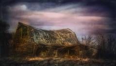 Dark collapse... (Sherrianne100) Tags: abandoned deserted rural collapse oldbarn barn missouri
