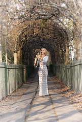 May in winter-2 (jonathan charles photo) Tags: may musician saxophone jazz bristol fashion glamour outdoor white dress portrait beauty art photo jonathan charles topf25 birdcagewalk