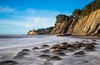 Emerging... (dezzouk) Tags: bowlingballbeach clifornia california pointarena schoonergulch beach lowtide sunset bowlingball