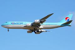 Korean Air Boeing 747-8I HL7638 (Mark Harris photography) Tags: spotting aircraft plane aviation nzaa auckland kal koreanair boeing 747