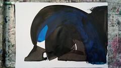 würden wir weiter wollen (raumoberbayern) Tags: painting malerei black schwarz blue blau weis white acrylic acryl robbbilder