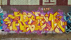 Armed... (colourourcity) Tags: streetart streetartnow streetartaustralia graffiti melbourne burncity awesome colourourcity original nofakes art streetartmelbourne melbournegraffiti armed ksa ksacrerw traxside tracks olddandyliner