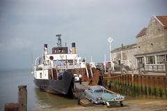 aug 1963 (foundin_a_attic) Tags: fashion ferry clasic car yarmouth isleofwight