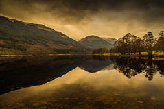 Tranquility on Loch Voil (Brian Travelling) Tags: lochvoil tranquility reflection trees hills mountains trossachs balquhidder perthshire scotland clouds lake