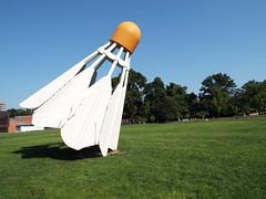 DSCF2298 (dishfunctional) Tags: city sculpture nelson kansas atkins shuttlecock