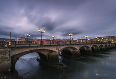 Entre el dia y la noche (PITUSA 2) Tags: rio paisaje galicia farolas pontevedra anochece lerez pontedoburgo pitusa2 elsabustomagdalena